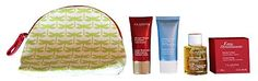Clarins Gift Set & Travel Pouch - Tonic Body Treatment Oil, Super Restorative Replenishing Comfort Mask, HydraQuench Cream Mask, Eau Dynamisante Cream Soap& Pouch