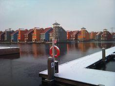 Jachthaven Reitdiep, Groningen, Nederland.