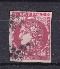 France  Catalogue no. 44 (AFA)  Value Dkk. 2.500