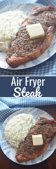 Air Fryer Steak - Recipe Diaries #steak #airfryer #airfryerrecipes #lowcarb