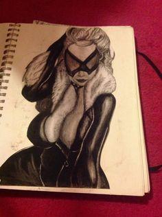 Emily's sketch book hand drawn pencil art