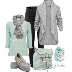 winter fashion ideas for women 50+ | Cute Winter Outfits | mint and grey | Fashionista Trends