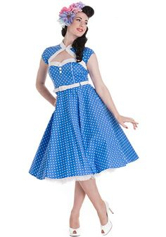 The Drive In-Dress in Blue dress911