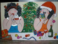 Kerst dikke dame