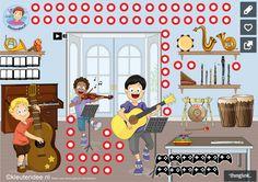 Interactieve praatplaat muziekinstrumenten voor kleuters, kleuteridee, met veel informatieve video's