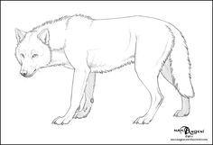 Free Lineart - Wolf by makangeni.deviantart.com on @deviantART