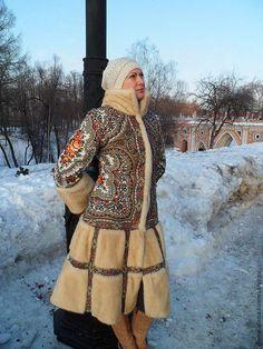"""Верхняя одежда ручной работы. Зимнее пальто """"Снежная фея"""".. Алёна. Ярмарка Мастеров. Мех, зимнее пальто, натуральный мех"""
