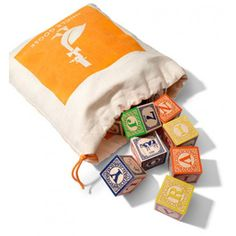 Uncle Goose ABC Blocks with Canvas Bag - Toys Top 10 Gift!