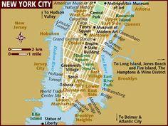 new york city map manhattan | Art in World