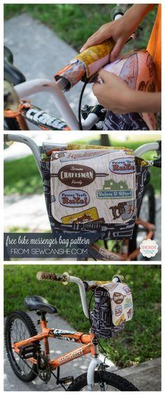 Fahrradtasche, Laufradtasche, Lenkertasche nähen, DIY Tasche für Fahrrad und Co, Messenger Bike Bag