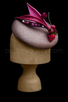 Louise Pocock Millinery Hat - summer fruits