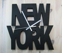 Relojes - Reloj NEW YORK, Reloj de Pared de Diseño.. - hecho a mano por artenpapel en DaWanda