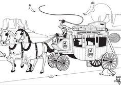 Coloriage Cheval Avec Caleche.103 Images De Colorier Transports Qui Font Envie Coloring Pages