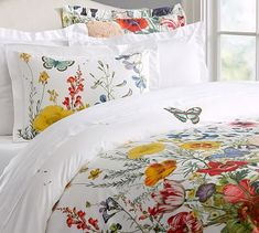 Flora Garden Duvet Cover & Sham #potterybarn.  Just ordered this for a spring look in my bedroom. Love it.