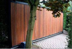 sliding driveway gates with pedestrian access Drive Gates, Driveway Gate, Driveway Ideas, Door Gate Design, Electric Gates, Sliding Gate, Automatic Gate, Entrance Gates, Garden Gates