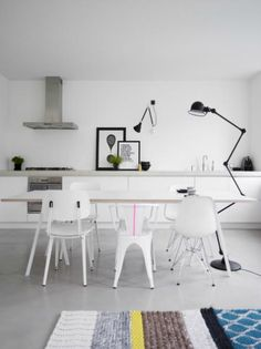 Jieldé floor lamp. Eames DSR chair. HAY loopstand table.