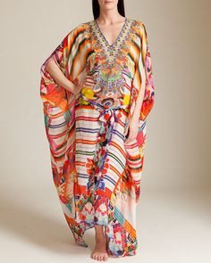 new CAMILLA FRANKS SILK SWAROVSKI MANTA BELTED KAFTAN layby available