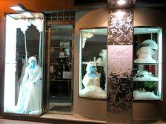 Escaparate navidad l´atelier novias