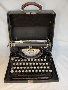 1920's Underwood Four Bank Keyboard Typewriter with case Antique #FourBankKeyboard