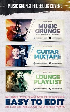 Music Grunge Cover Facebook Facebook Cover Design, Facebook Cover Template, Facebook Timeline Covers, Photoshop, Web Design, Graphic Design, Graphic Art, Thumbnail Youtube, Grunge