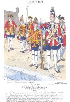 Band III #39.- England. Englische Garde-Infanterie. 1745.