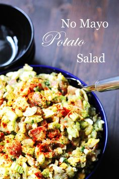 No Mayo Potato Salad | http://cookswithcocktails.com/no-mayo-potato-salad/