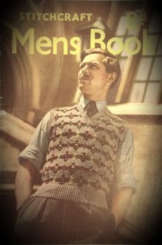 Mens collection stitchcraft 1940s PDF part by VintageKnitsWithKit, £0.50