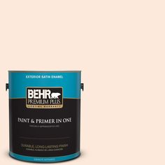 BEHR Premium Plus 1-gal. #260A-1 Feather White Satin Enamel Exterior Paint