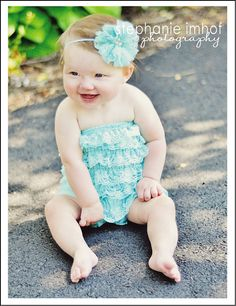 Lace romper  AQUA  Photography Prop  With or by PrincessPlease, $15.99