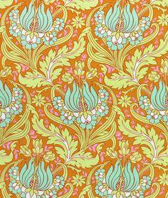 Amy Butler Temple Tulips Cinnamon Fabric