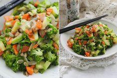 Салат из овощей-вок с имбирно-кунжутной заправкой - HAPPYFOOD