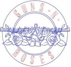 how to draw guns n roses logo