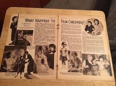 SHIRLEY TEMPLE - Vintage 1934  Article - 2 Pages
