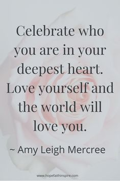 Celebrate who you ar