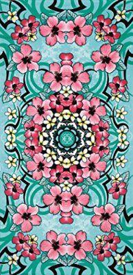 Hibiscus festival velour brazilian beach towel 30x60 inches