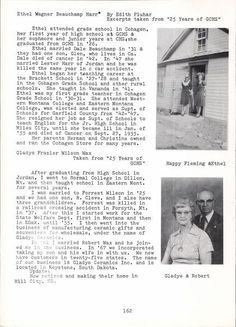 Biographical information for Gladys F. Wax (1902-1988), owner of Gladys Ceramics Inc., Keystone, S.D.