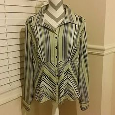 Cato Striped Button Up Cato Tops Button Down Shirts