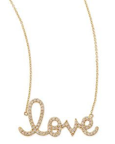 Sydney Evan Large 14k Yellow Gold & Diamond Love Necklace