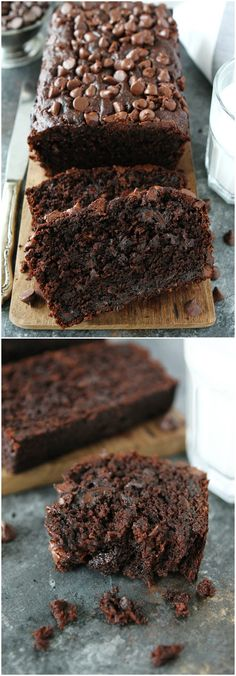 Chocolate Banana Bread Recipe on twopeasandtheirpod.com The BEST banana bread recipe. The addition of chocolate chips and cocoa makes this banana bread rich and decadent! It is everyone's favorite loaf!