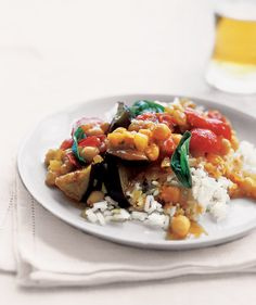 Curried Eggplant With Tomatoes and Basil   The incredibly versatile eggplant works in everything from Italian to Asian recipes. Bonus: Eggplant makes a tasty substitute for meat, too.