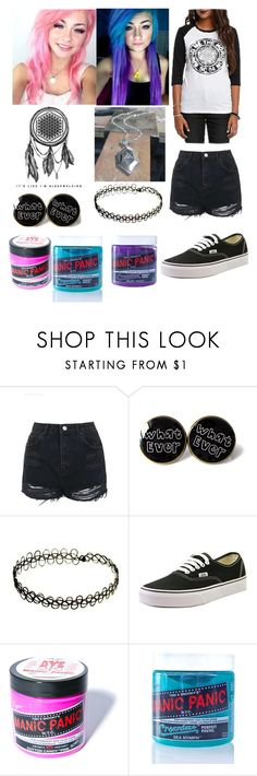 """Shannon Taylor"" by minty-oreo-cookies ❤ liked on Polyvore featuring Topshop, Vans and Manic Panic NYC"