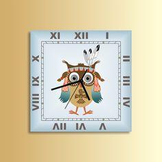 Indian Owl clock