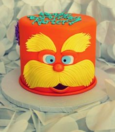 lorax baby shower cake!!! Whenever I have a baby I want a Dr. Seuss themed shower.