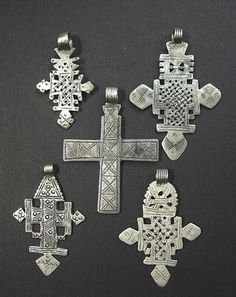 Ethiopian silver crosses