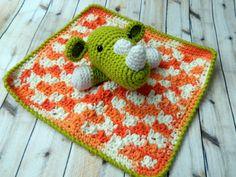 Ready to Ship Handmade Crochet Green Rhino by othookdesigns