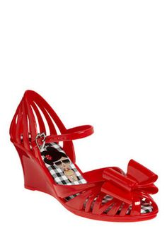 Believe in Miracles Wedge in Watermelon, #ModCloth