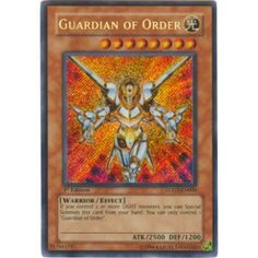 Yu-Gi-Oh! Card LODT-EN000 Guardian of Order (Secret Rare)
