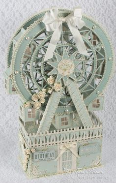Happy New Year! I hope you had a wonderful holiday season! Pion Design has released another beautiful paper collection called The Songbird's Secret. The shades of pastel blues in this collection are s 3d Paper Crafts, Paper Art, Diy And Crafts, Paper Crafting, Shabby, 3d Cards, Scrapbook Albums, Vintage Paper, Altered Art