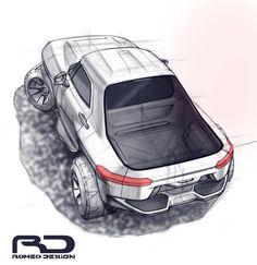 doodling of pickup