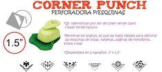 "Flow Insumos Creativos: CORNER PUNCH 1.5"" - PERFORADORA P/ESQUINAS"